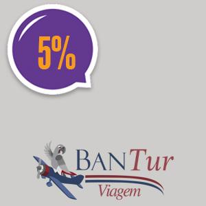 imagem do cupom Bantur Turismo